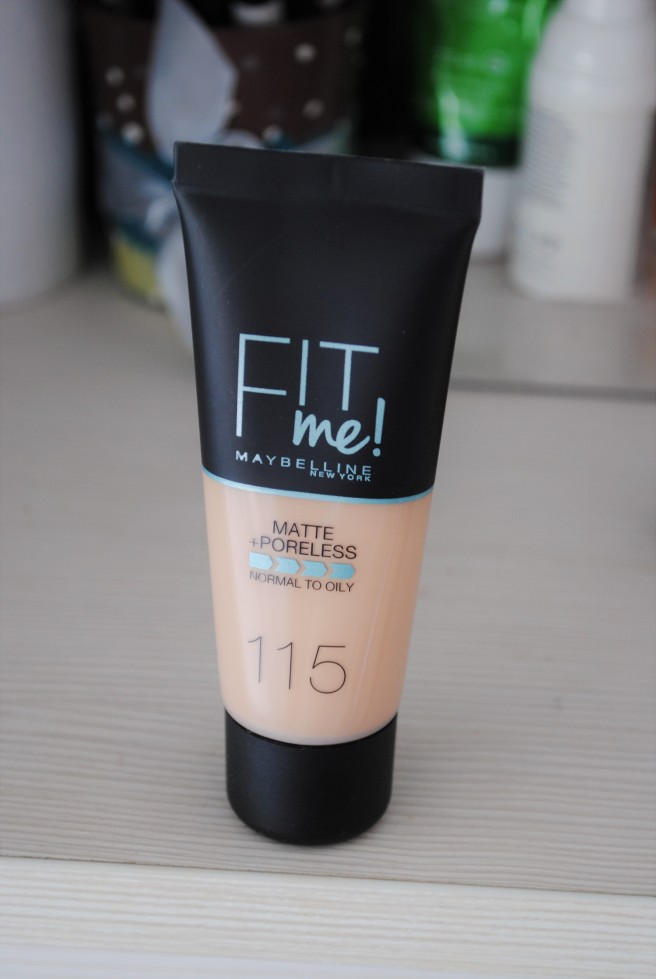 maybelline fit me matte and poreless 115 glambox april